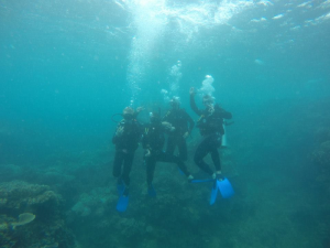 First time diving in the ocean. Surreal!