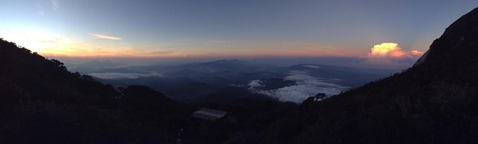 The view from Laban Rata, near the top of Mt Kinabalu
