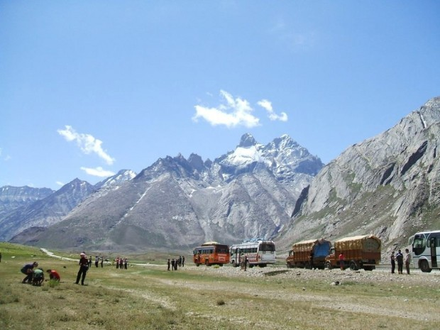 Travelling to base camp