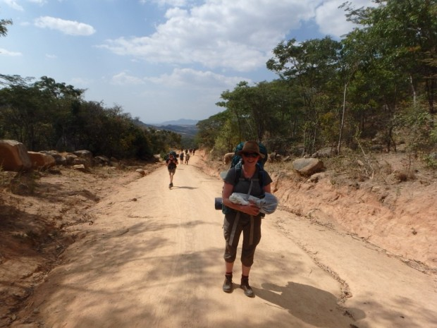 Me carrying cabbage for 7km, which was supper that night