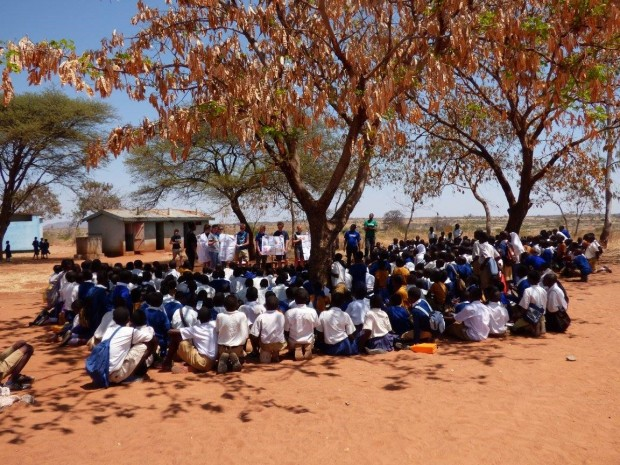 Raising awareness on the importance of education at Old Shinyanga Primary School