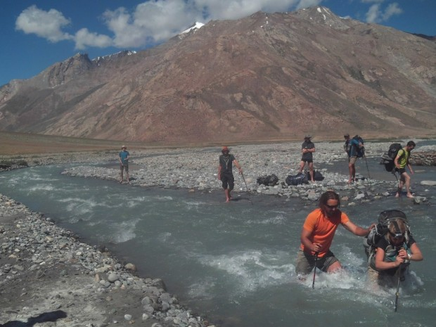 River crossing on the recce near Rangdum