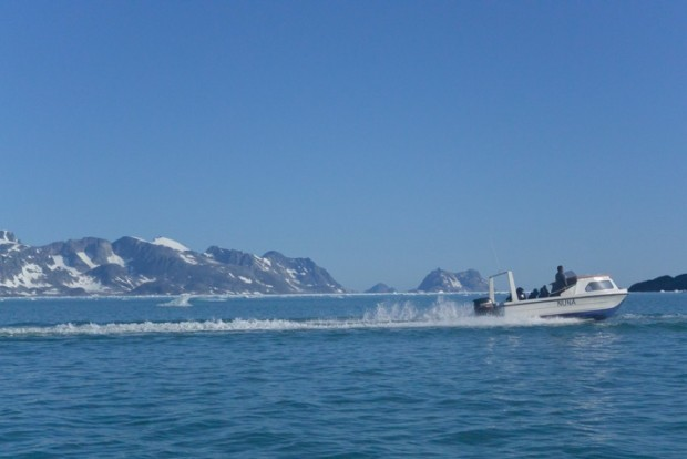 The boat journey back to Kulusuk